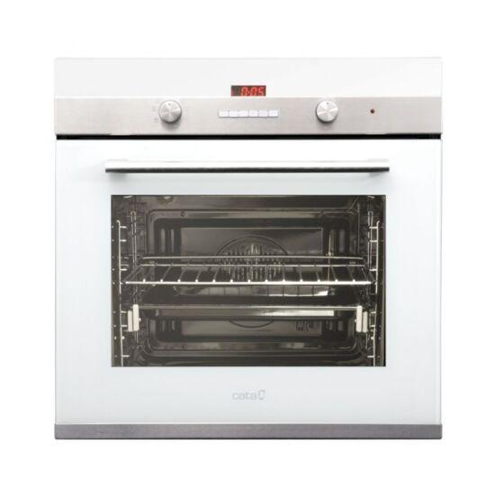 CATA CDP 780 AS WH beépíthető sütő + CATA LCI 631 WH gázfőzőlap + CATA PODIUM 600 FEHÉR kürtös páraelszívó H1 szett