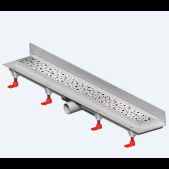 MOFÉM Linear MLS-850 KF Sarok zuhanyfolyóka minta nélküli ráccsal