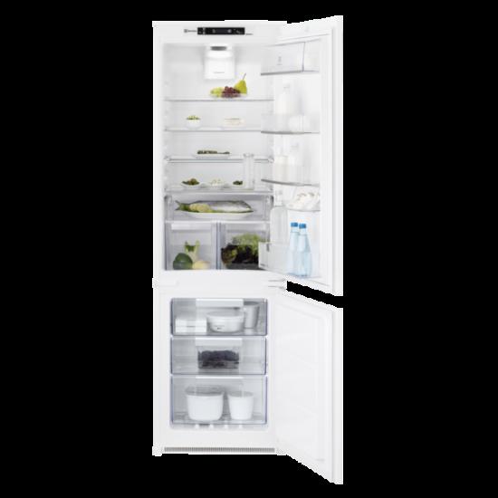 Electrolux ENT8TE18S beépíthető Hűtő alulfagyasztós NF